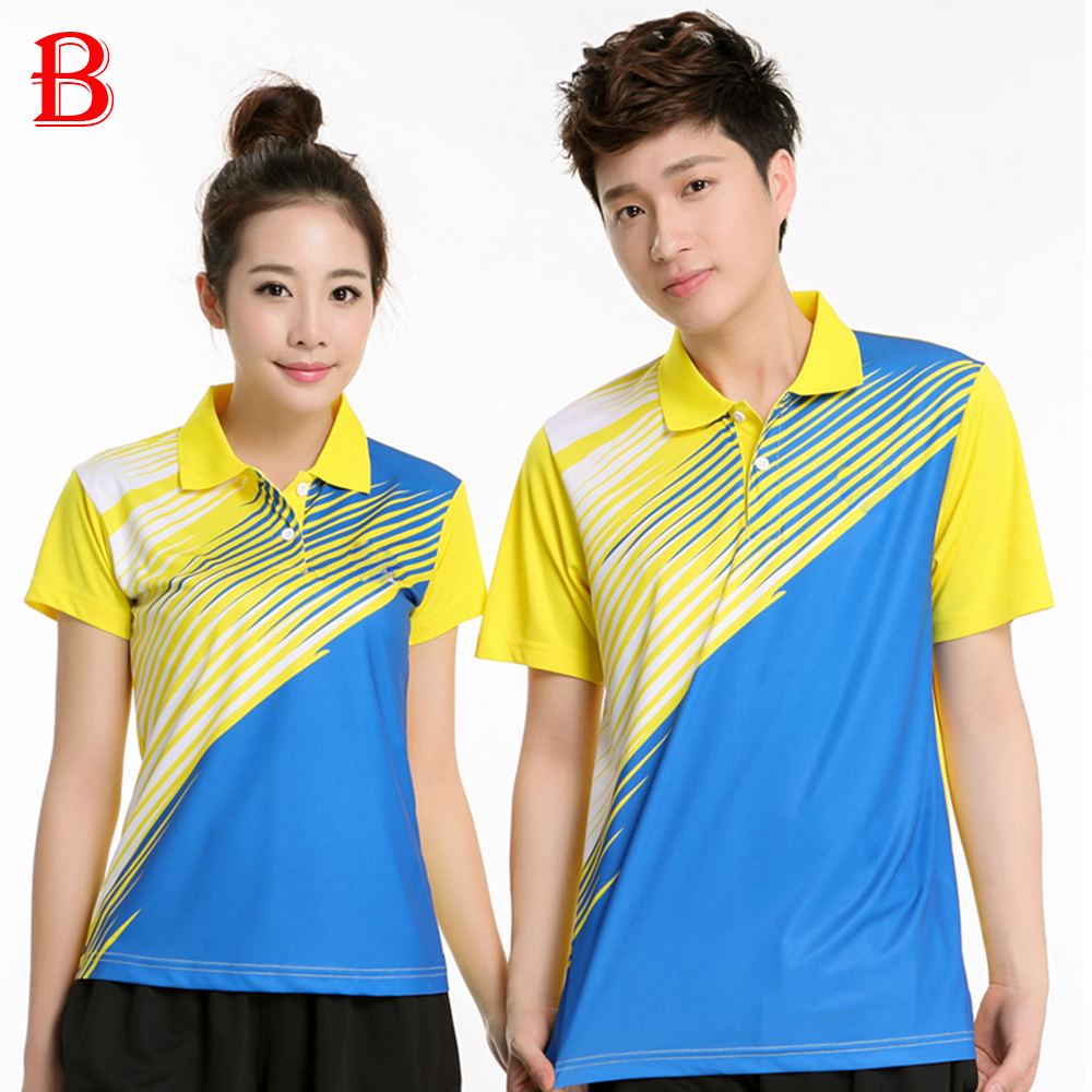 Men Table Tennis Polo Shirts Beautiful Polyester Quick Dry Fashion Table Tennis Shirts BTF12(China (Mainland))