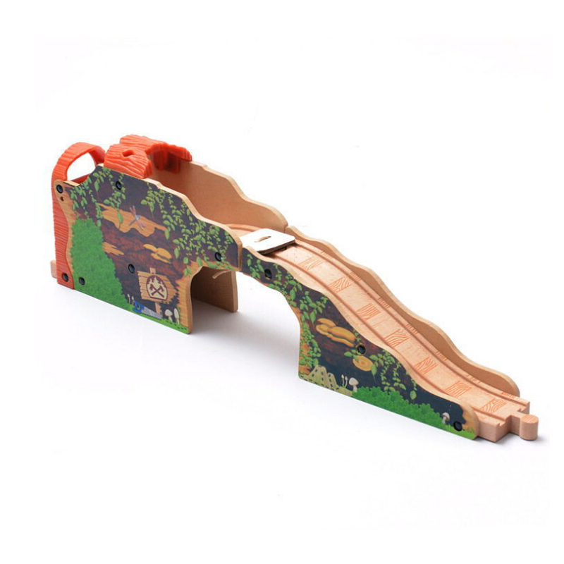 x073 Thomas Bridge cave railway Fitting game scene fit Electric Thomas and Brio wooden train developing boys / children's toys(China (Mainland))