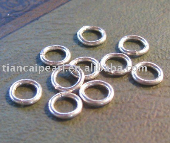 8mm 1.0mm thickness Sterling Silver Findings - Jump rings Jewelry Accessories Findings Fittings(China (Mainland))