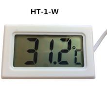 Sésamo HT-1 Mini blanco nueva Termometro Digital Teplotny Snimac robador metro jugo de temperatura Gratis higrometro tanque Sensor