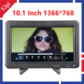 10 1 LCD Monitor 1366 768 LCD Screen Panel with Black Folding Monitor Bracket and Remote