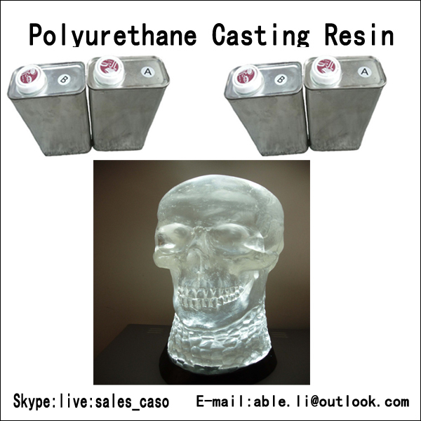 FREE SHIPPING 1kg(500g part A+500g part B ) clear polyurethane casting resin with high hardness,transparent casting resin(China (Mainland))