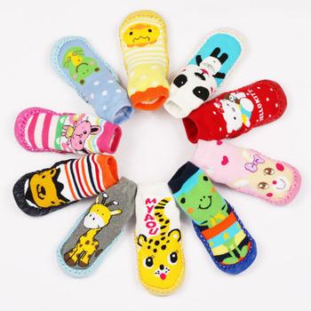 Малыш non-slip пинетки обувь носки мокасины тапочки долго ребенок носки детская обувь