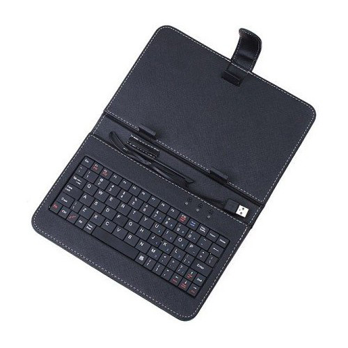 Synthetic Leather Case with Standard USB 2.0 Keyboard and Kick Stand for Android 2.2 Tablet(China (Mainland))