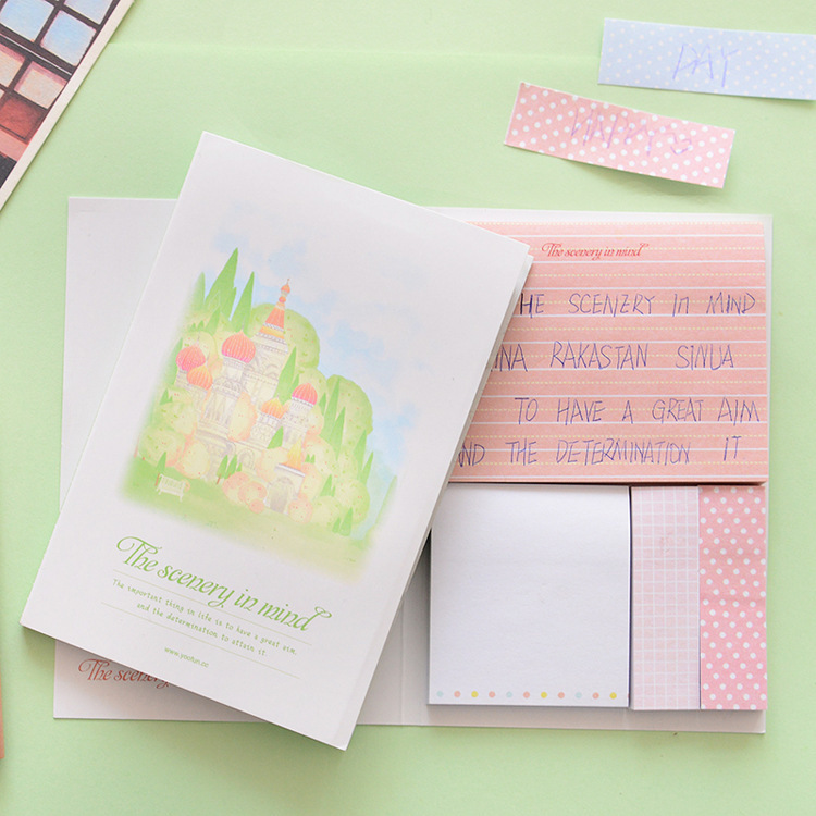 1 PC / PACK \Day love South Korea stationery wholesale and creative lovely optimal scenery note posted N put post-it notes(China (Mainland))