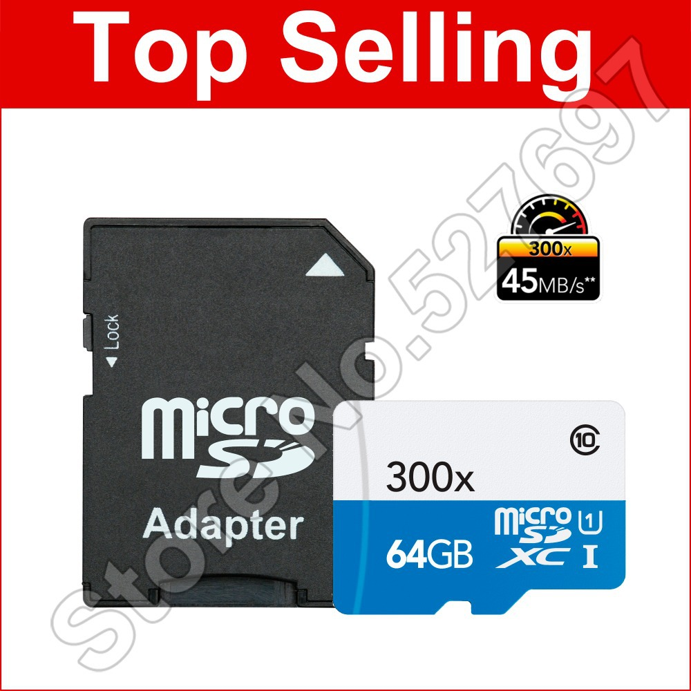 Brand 300x 16GB microSD Memory Card 32GB TF Card 64GB G 1080p full-HD 3D 4K video For Tablet Hero3 Sports Camcorder Mobile Phone(China (Mainland))