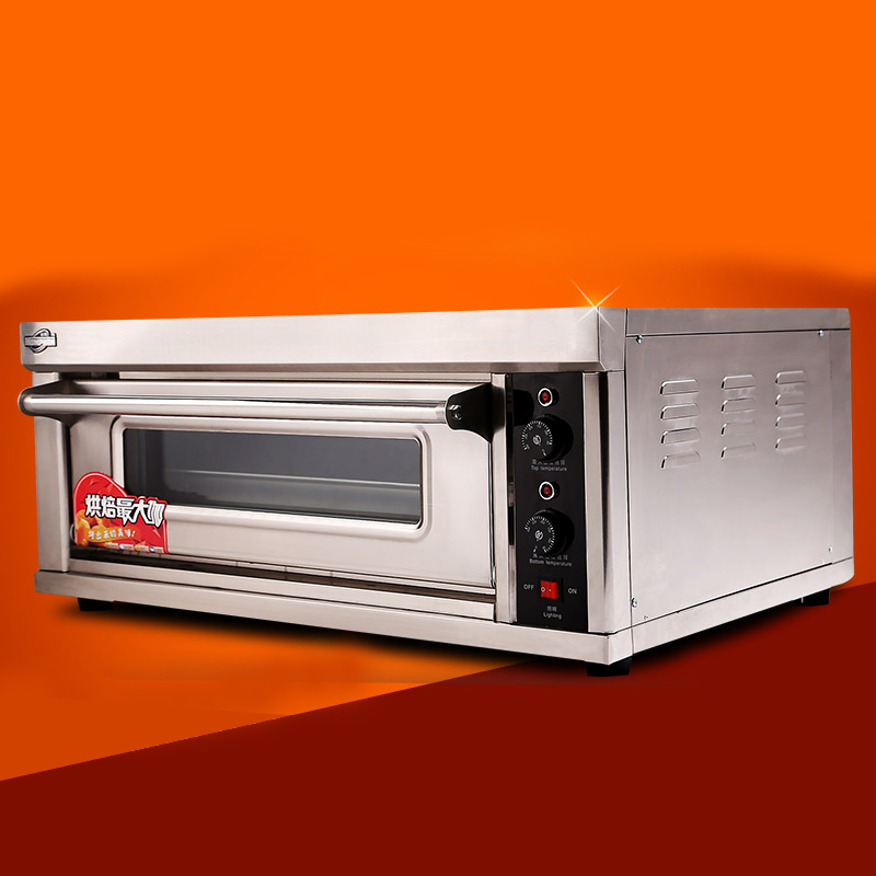 commercial electric baking oven bread oven 2 heating pipe independent control stainless stee(China (Mainland))