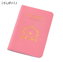 Buy Fashion Passport Cover Holder Bag Women PVC Waterproof Travel Passport Case ID Card Document Passport Pouch Girl PINK for $1.58 in AliExpress store