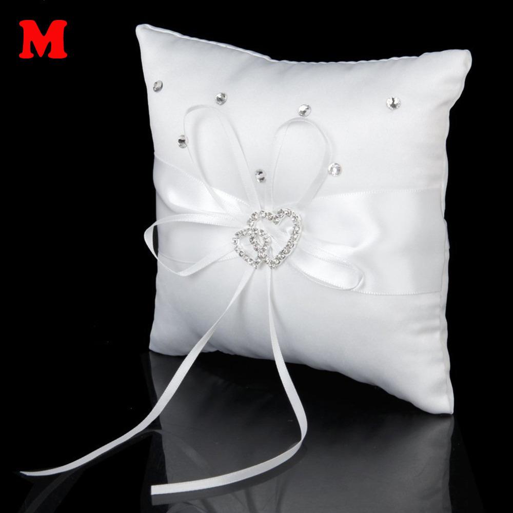 Ribbon bow bridal ring pillow Size Medium 15*15cm(China (Mainland))