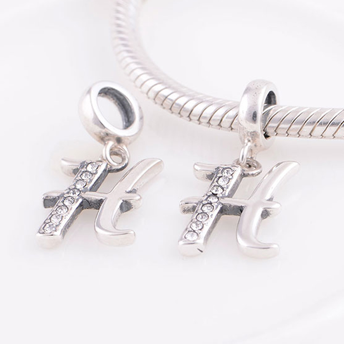 Fits pandora charms bracelet necklace authentic 925 for Letter h pandora charm