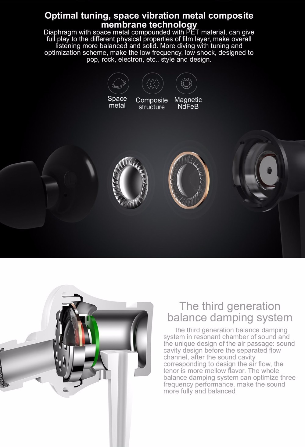 2016 Newest 100% original Xiaomi Mi Earphones Piston 3 Basic Version In-Ear with Mic Wire Control for mobile phone