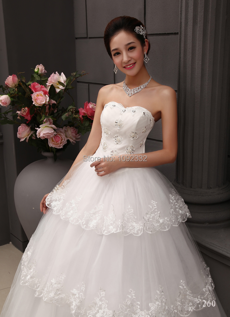 S stock 2016 new plus size bridal gown wedding dress for Princess plus size wedding dresses