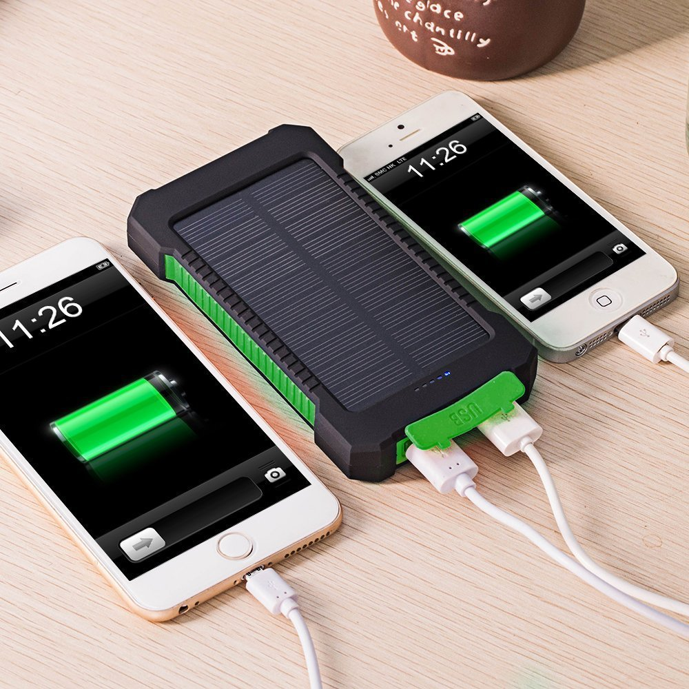 2016 New Solar Power Bank Real 10000mAh Portable Solar Charger External Battery Powerbank for smartphone(China (Mainland))