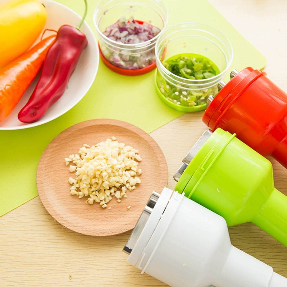 Garlic Press Vegetable Grater Crusher