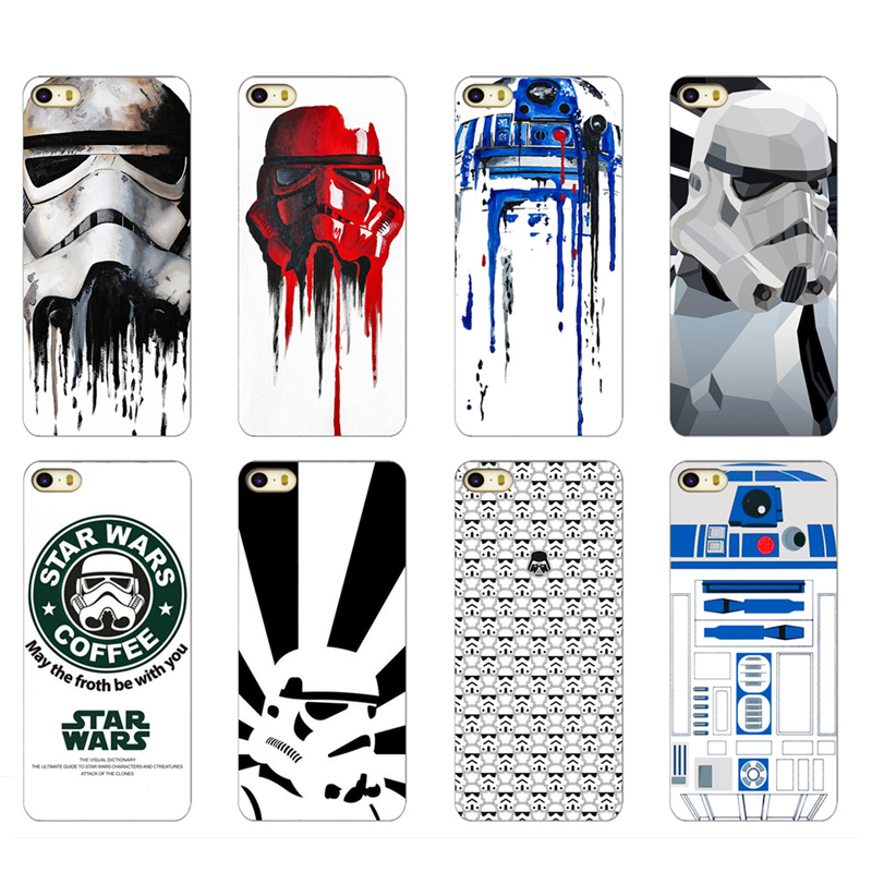 Star Wars For Apple iPhone 5C R2D2 Coffee Stormtrooper Case Cover High Quality Hard Case(China (Mainland))