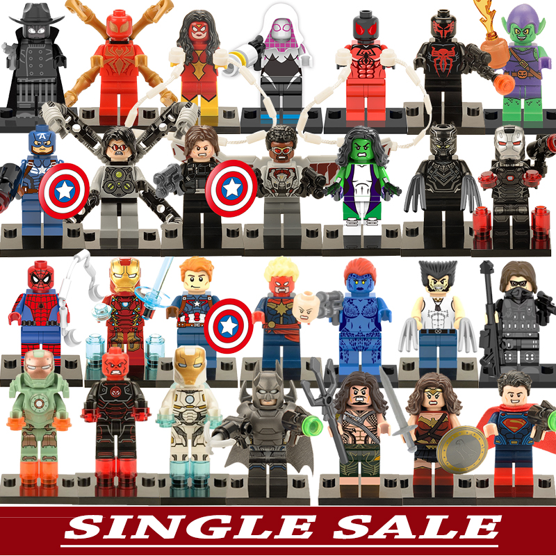 Single Sale Marvel DC Justice League Super Heroes Batman Harley Quinn Silver Surfer Building Blocks Best Model Bricks Toys(China (Mainland))