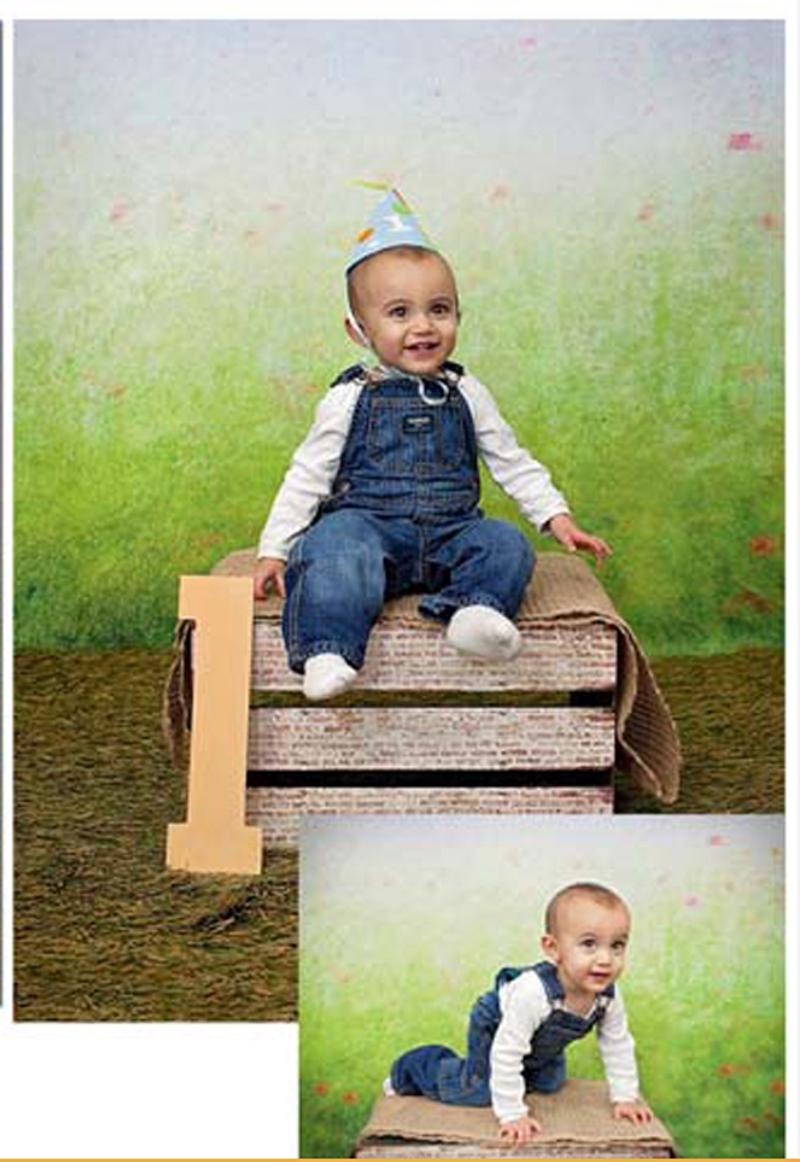 photography backdrops vinyl 5*7ft newborn baby gre.