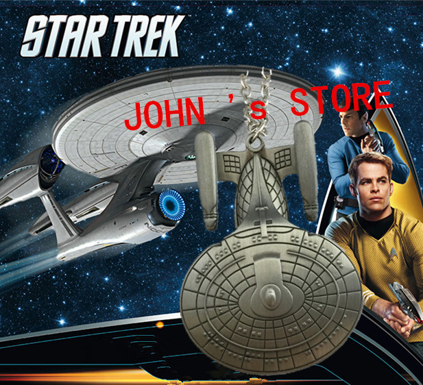 Freeshipping 20pc a lot Star Trek Enterprise spacecraft necklace G01(China (Mainland))