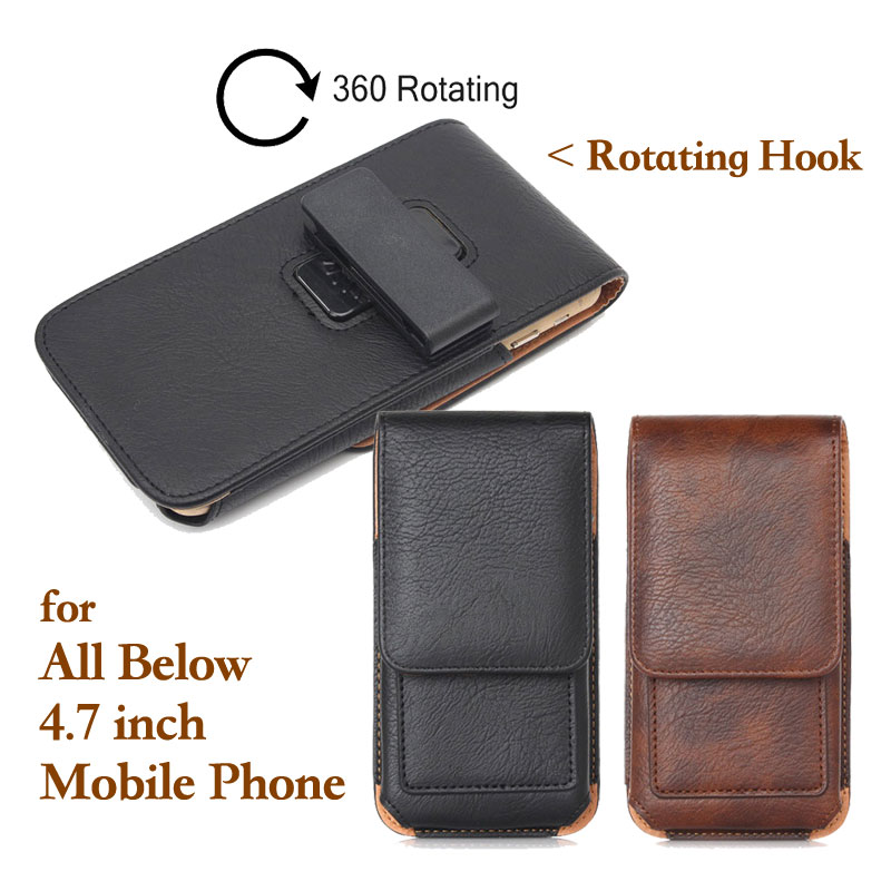Business Style font b Mobile b font font b Phone b font Leather Bag Outdoor 360