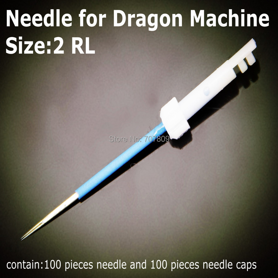 Free Shipping 100pcs 2-prong Round Makeup Card needles fit on Dragon machine