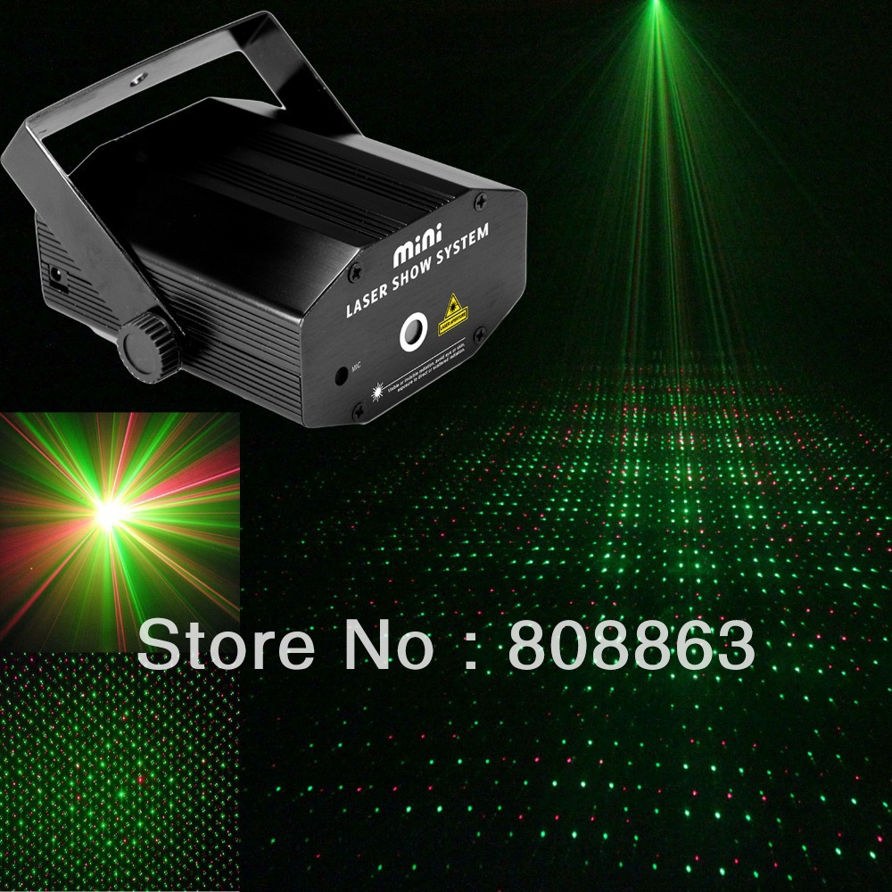 new laser projector 130mW mini Green Red Laser DJ Party Stage Lighting Light show party club disco lights FREE SHIPPING B6(China (Mainland))