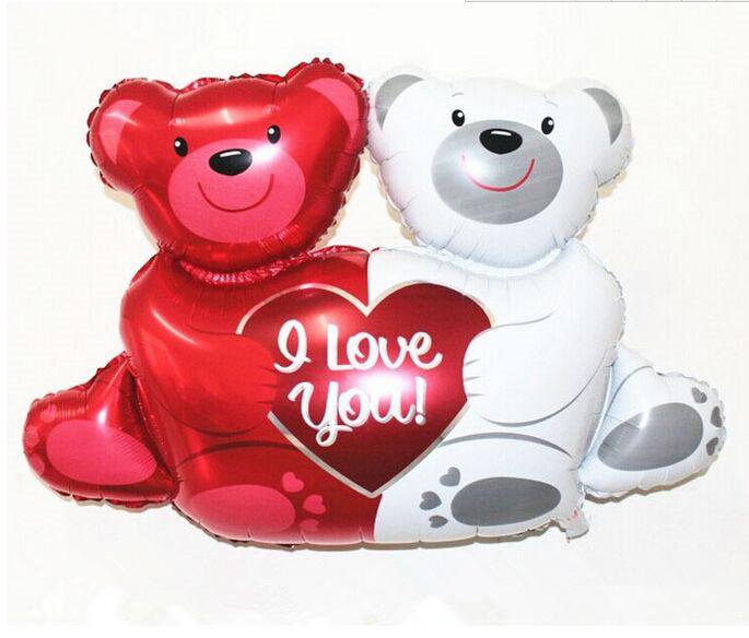 Гаджет  100*76 CM Large Size Cut Bear Cartoon Birthday Party Wedding Decoration Foil Balloons Globos Party Supplier Free Shipping  None Игрушки и Хобби