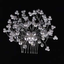 1Pcs Bridal Wedding Hair Comb Charm Women Bride Crystal Pearl Rhinestone Hair Pins Accessories 2 Styles(China (Mainland))