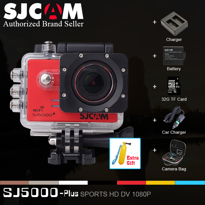 SJCAM Brand SJ5000 Plus WIFI 1080P HD 60FPS Sport Action Camera Wifi 16MP Ambarella A7LS75 Camcorder+Dual Charger+2 SJ Battery(China (Mainland))