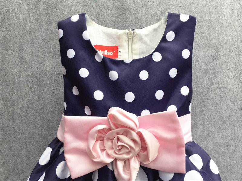 HTB1q L3QpXXXXawapXXq6xXFXXXn - Hot Sale Christmas Super Flower girls dresses for party and wedding Dot print Princess Kids Dress Fashion Children's Clothing