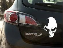1 PCS 12 * 8 CM Cool Skull voiture autocollants drôle et creative car styling décoration de voiture + livraison gratuite