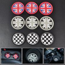 9Pcs Union Jack/Chess Patten Anti-Slip Cup Mat for Mini R55 R56 R57 R58 R59 jack union cup mat car cup mat(China (Mainland))