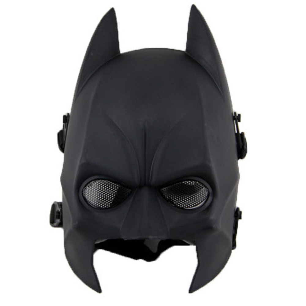 Unisex Hot Sale Half Face Latex Batman Mask Costume for Halloween Deluxe Party Masks Masquerade Tactical Mask(China (Mainland))