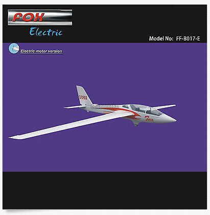 FOX Electric Glider 3000mm KIT with only Motor &amp; Propeller RC Fiberglass plane<br><br>Aliexpress