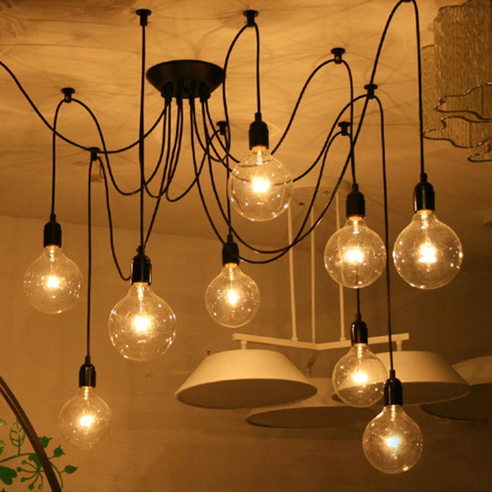 mordern nordic retro edison bulb light chandelier vintage loft antique. Black Bedroom Furniture Sets. Home Design Ideas