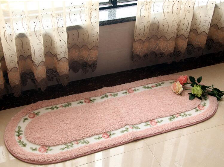 Rosa de pelúcia macia tapetes felpudos e tapetes para sala de estar tapete de área para sala tapete crianças janela do quarto sala de tapete de cabeceira(China (Mainland))