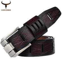 Designer men 100% good quality cowskin qenuine luxury leather belts for men,strap metal pin buckle,hip jeans belt,drop shipping