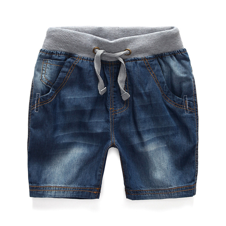 2016 Korean Style Summer Children Boys Cotton Shorts Fashion Jeans For 2 3 5 7 9 10 12 Years Old Kids Boy Quality Skinny Jeans(China (Mainland))