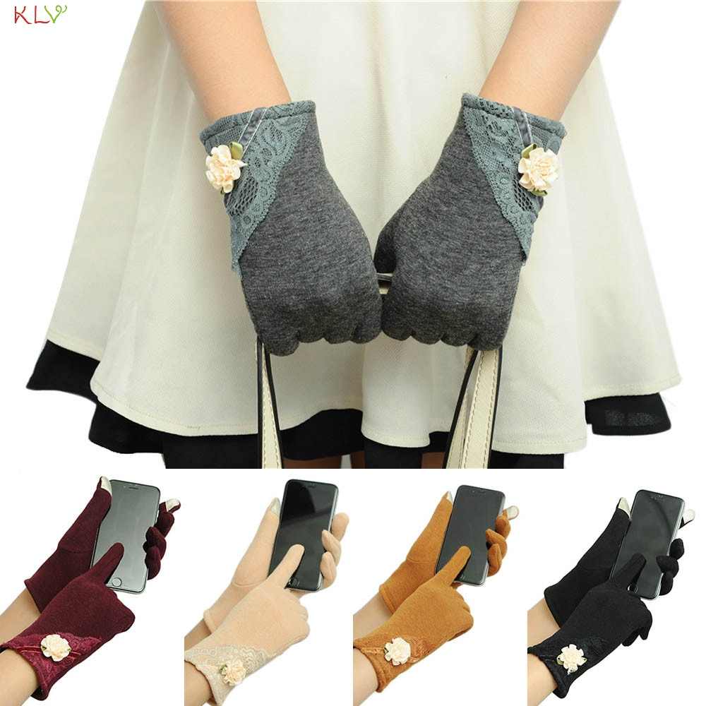 Hot Brand Womens Screen Winter Warm Wrist Gloves Mittens