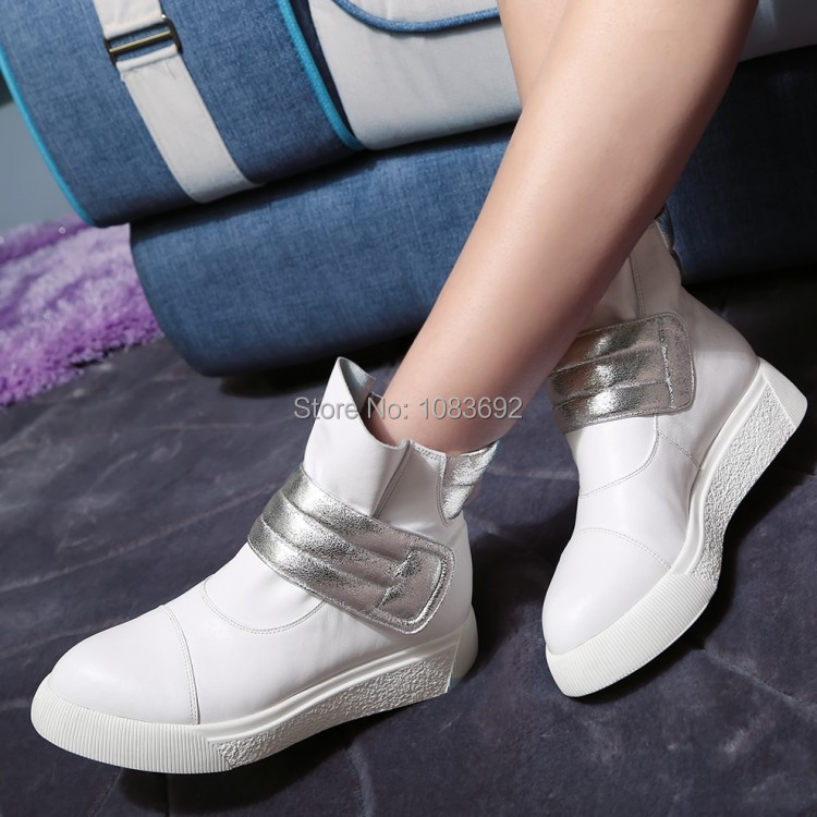 new  2014 women platform boots 2014 ankle fashion boots white  for women loop Womens shoes big size  34-42 <br><br>Aliexpress