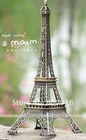 wholesale retail high 30cm metal craft arts 3D Eiffel Tower model French france souvenir paris home decoration gift desk office
