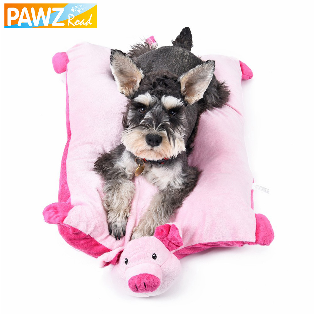 Lovely Pink Pig Leopard Soft Pet Mats Dog Cushion Cat Place to Sleep Small Dog Bed Puppy Home Kitten House Products for Animals(China (Mainland))