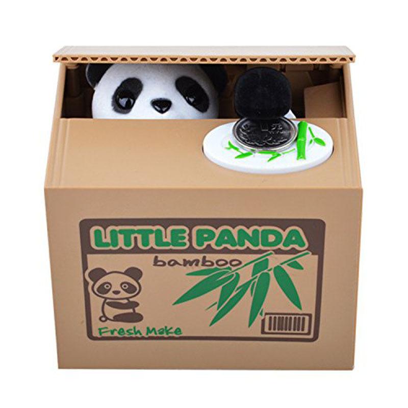 Hot&Good New Cute Automated Panda Steal Coin Bank Piggy Bank Money Saving Box Gifts(China (Mainland))