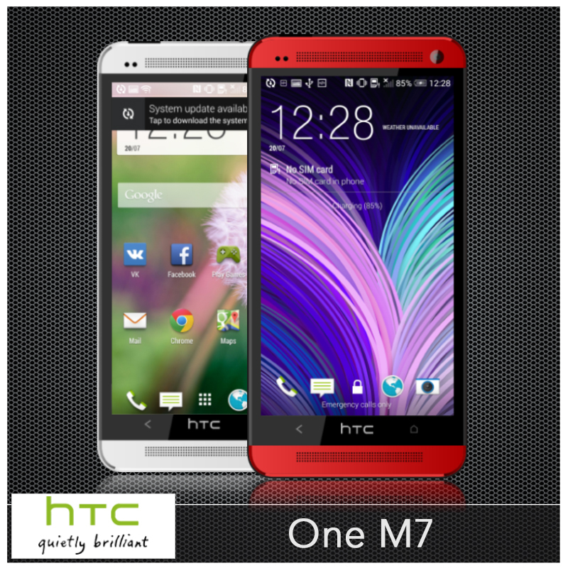 """M7 100% Original HTC ONE M7 unlocked Mobile phone 3G GPS WIFI Quad-Core 4.7"""" inch HD 4MP 32GB ROM Android OS 4.4 NFC Cell phones(China (Mainland))"""
