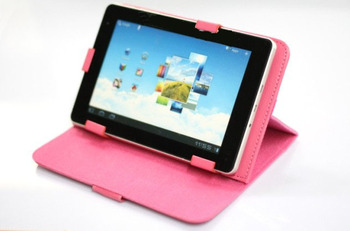 """LEATHER PU CASE +Stylus FOR ARCHOS ELEMENTS 97 XENON & TITANIUM HD TABLET 9.7""""inch Black/RED/Blue/Pink/Brown/Purple Free Shpping"""