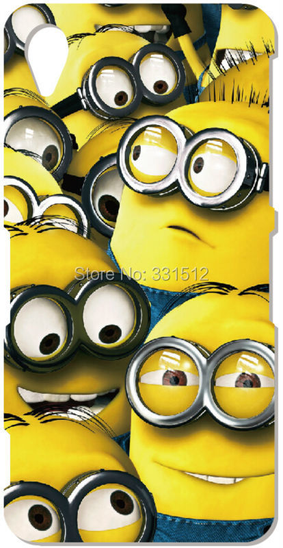 Despicable Me Minion Retail Plastic Hard Phone Case Covers For Sony Xperia Z1 Z2 Z3 Z4 Mini Asus Zenfone 5 Cases Free Shipping(China (Mainland))