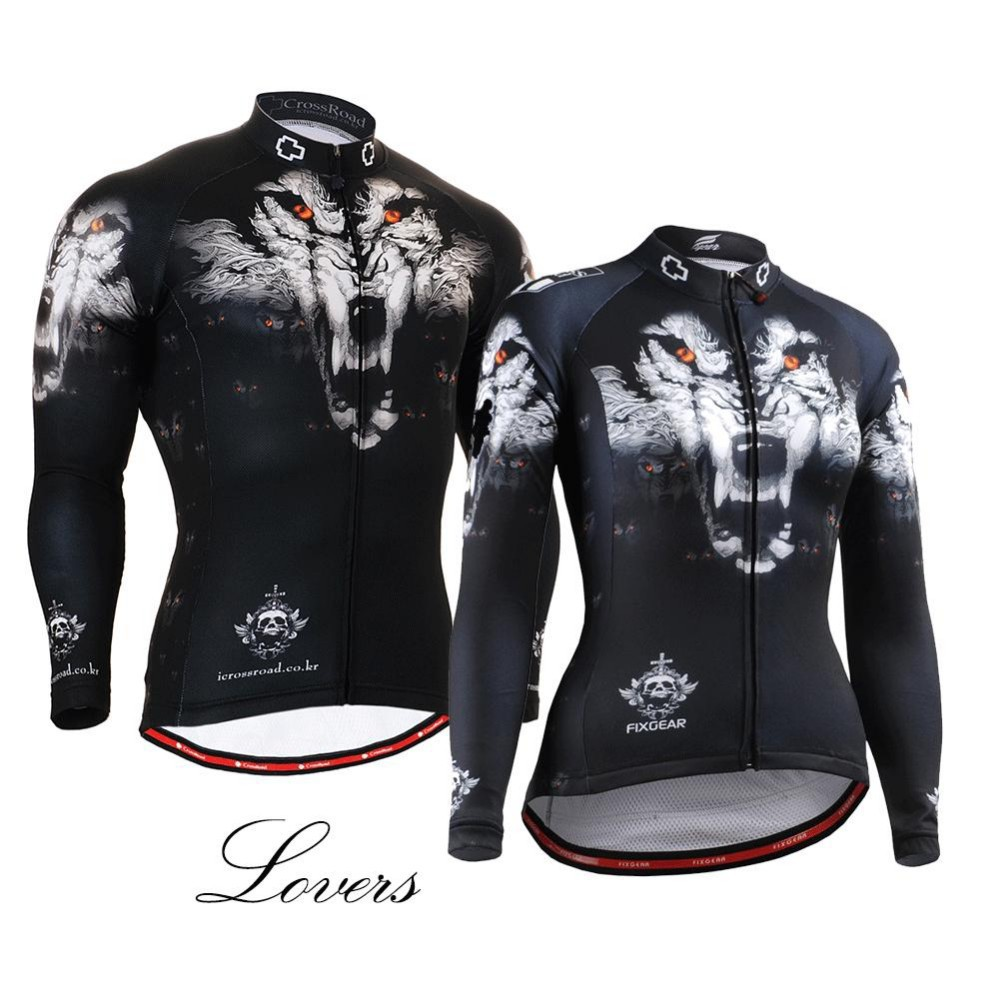 Unique WOLF HEAD Long-lasting Print LOVERS Cycling Jersey long Sleeves MTB Road Bike Jersey Outdoor Bicycle Racing Tops Shirts