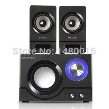 !AUDIO SUBWOOFER,wooden computer speaker,Multimedia sound box,support U disk!