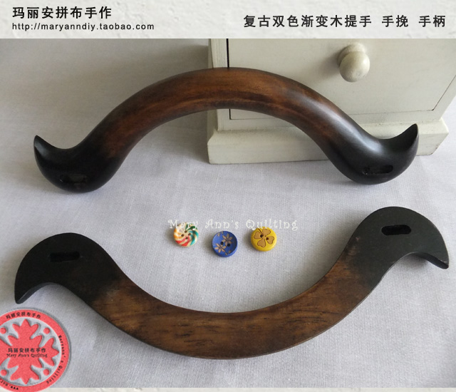 China Factory Supplier Wooden Purse Handle Japanese Style Bag Hanger DIY Accessories Purse Frame Wholesale Wooden Handle(Hong Kong)