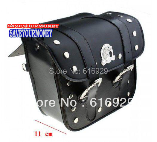 MOTORCYCLE Saddle bag Leather Moto saddlebags luggage SIDED SADDLE SIDE BAG universal Saddlebags Saddle Bags Pouch for Harley(China (Mainland))