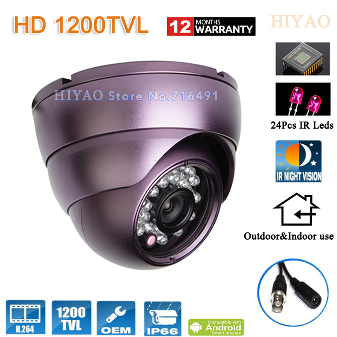 Free Shipping! 1200TVL Home Security Surveillance With 24Pcs IR LED Night Vision Indoor/outdoor Waterproof Security CCTV Camera(China (Mainland))